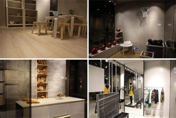 The concept invented by the designers of Cicogres is original and multifaceted. One can visit an impromptu children's room, a bakery, a fashion boutique and a gym without leaving the company booth. Among the new arrivals are Esben, Javera (stone effect porcelain tiles), Irazu (imitation of parquet), Linen (imitation of linen cloth).