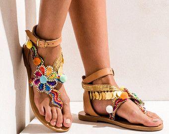 Sandals Mermaid Motel handmade to order by ElinaLinardaki on Etsy