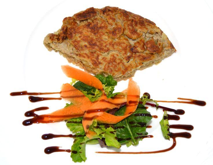 Tortilla de patata con Vinubo. Un plato de los de siempre pero con el toque especial de Vinesenti. www.restauranteespadana.es