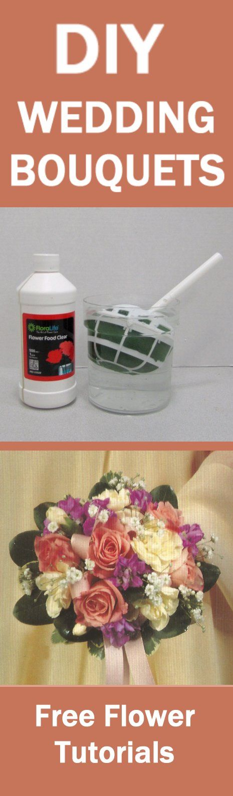 Mixed Round Rose Bridal Bouquet - Easy DIY Wedding Flower Tutorials  Learn how to make bridal bouquets, fresh corsages, groom boutonnieres, table centerpieces and church decorations.  Buy fresh flowers and discount florist supplies.
