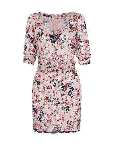 SuiteBlanco- Knot waist floral dress