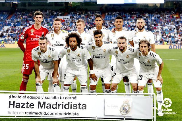 Real Madrid C F Temporada 2018 19 Courtois Sergio Ramos Kroos Varane Casemiro Y Benzema Bale Marcelo Marco Real Madrid Players Real Madrid Madrid