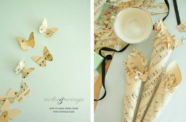 Tul y Flores · Inspiración para tu boda: Cucuruchos de papel