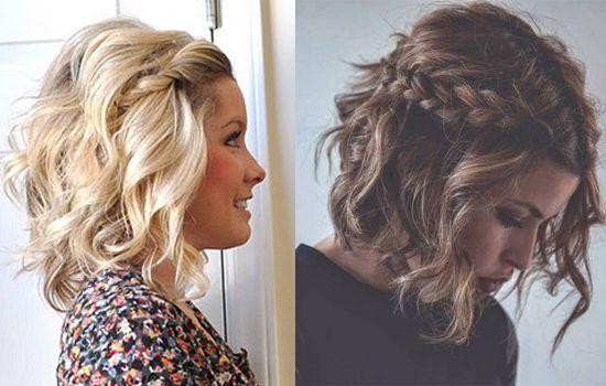 Recogidos de pelo rizado y corto http://www.cocktaildemariposas.com/pelo-rizado-corto-peinados/                                                                                                                                                     Más