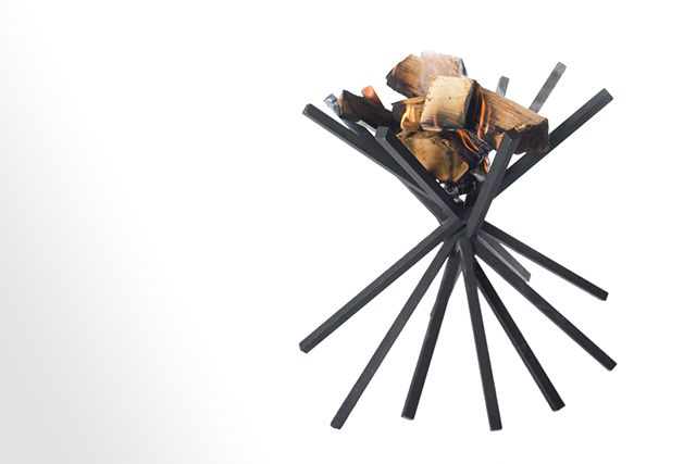 VanJoost brazier MIKADO Modern fireplace. design by Joost van Veldhuizen