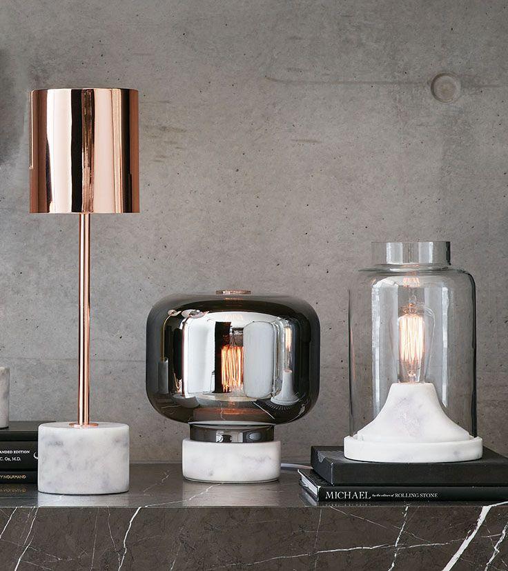 The Beacon Lighting Elk 1 light table lamp in copper.