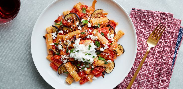 Made with lots of eggplant, tomatoes, and not one but two kinds of ricotta cheese, this pasta dish is simple and delicious. Meet Rigatoni alla Norma.