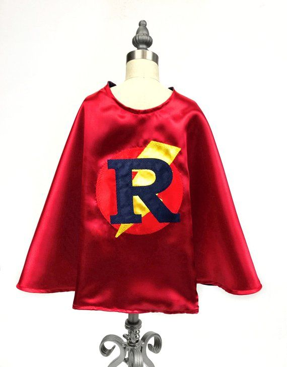 Personalized Baby Bodysuit With Superhero Cape and Mask