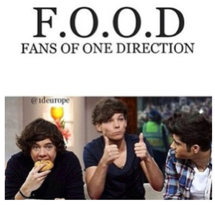 One Direction and food mixed! OMG how much better can this fandom get?! Love it!