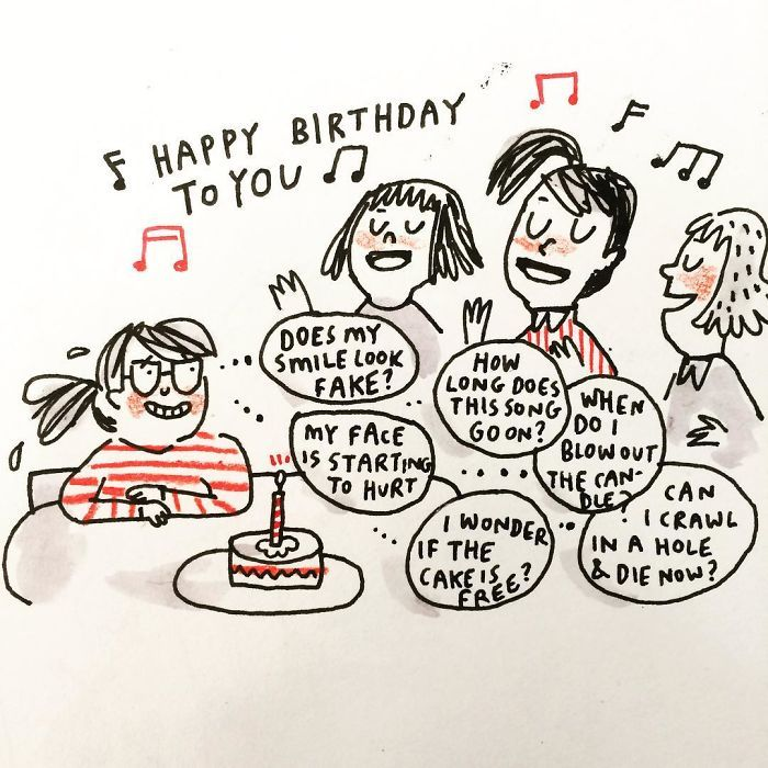 Best Depresión Dibujos Images On Pinterest - Artist suffering from anxiety depression turns her life into funny illustrations