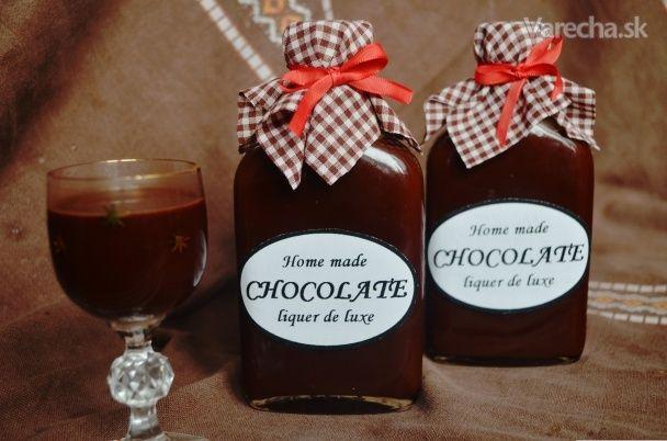 Čokoládový likér deluxe (fotorecept)
