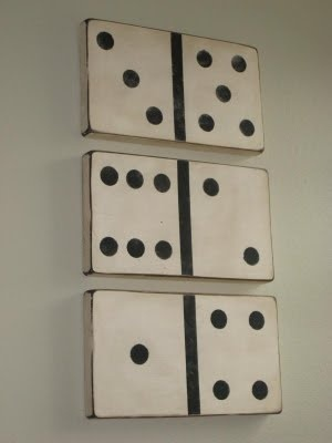 domino wall art - diy