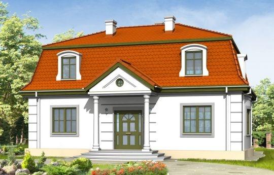 Projekt Retro to stylowy dom z dachem mansardowym, dla inwestorów doceniających klasyczne formy. Zewnętrzna szata kontrastuje z funkcjonalnie zaprojektowanym wnętrzem. Parter projektu Retro mieści przestronny salon, kuchnię (zamykaną drzwiami przesuwnymi), gabinet do pracy, z oknem na ogród oraz sypialnię rodziców. Na poddaszu znajdują się cztery sypialnie i łazienka może być ono osobnym mieszkaniem.