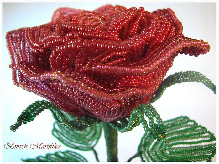 made from seed beads