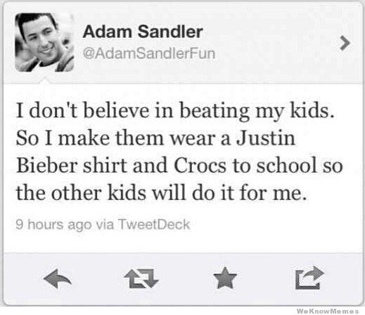 Adam SandlerBeats, Justin Bieber, Adam Sandler, Funny Pictures, Parents Tips, Parents Done Right, Kids, So Funny, Parents Win