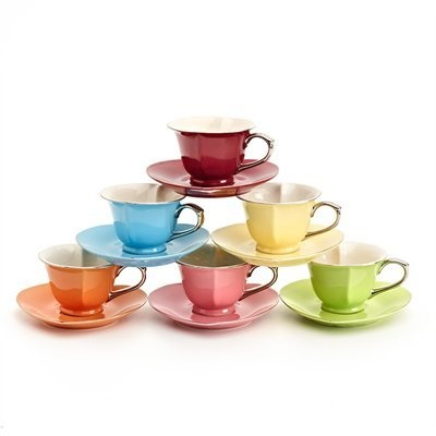 Inside Out Hearts Cups & Saucers Set by