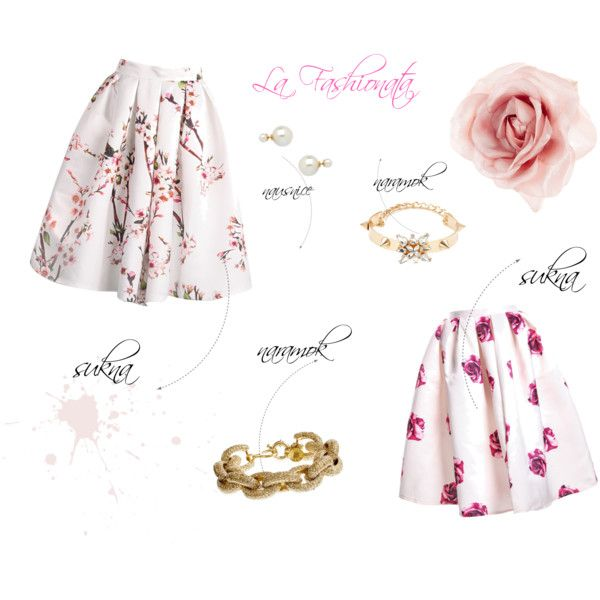 """Floral Skirts"" by la-fashionata on Polyvore"