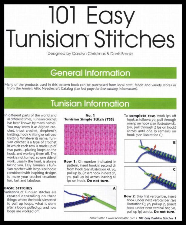 23 best Tunisian crochet images on Pinterest | Tunisian crochet ...
