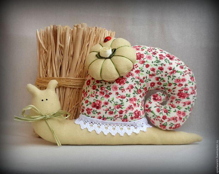 Купить Улиточка в стиле Тильда - комбинированный, улитка, улитка Тильда, улитка ручной работы