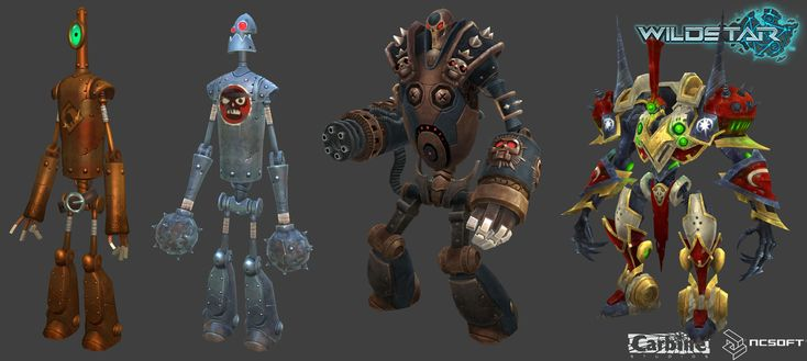 Wildstar Bots, Roger Eberhart on ArtStation at http://www.artstation.com/artwork/wildstar-bots