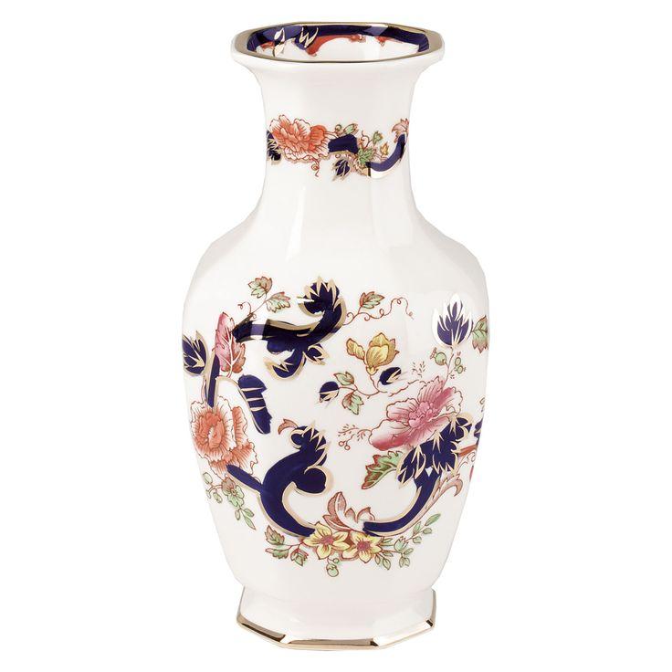 Mason's Ironstone Blue Mandalay Indian Vase.