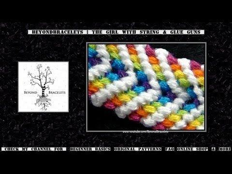 Friendship Bracelet Tutorial 28 - Beginner - Rainbow Chevron; I like this one MUCH better