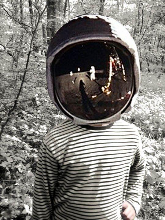 head on the moon