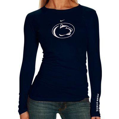 Nike Penn State Nittany Lions Ladies Navy Blue Classic Logo Long Sleeve T-shirt