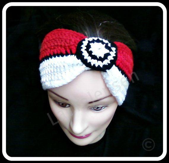 PokeBall headbandPokeb Headbands, Head Band, Pokeball Headbands
