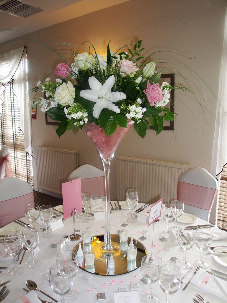 Martini Glass Wedding Table Decorations
