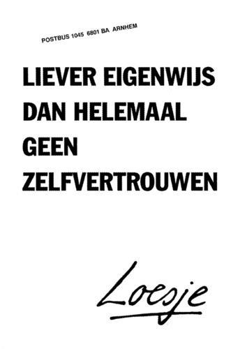 Loesje posters, 'a Dutch quote I like...' www.loesje.nl