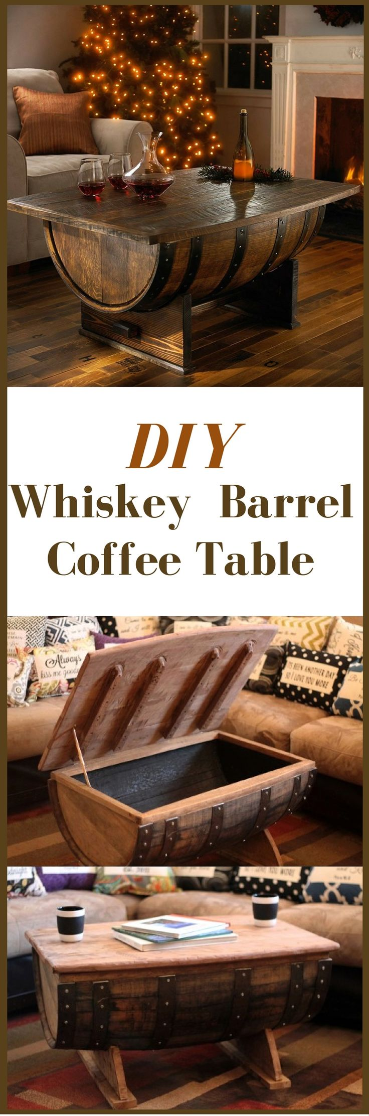 learn how to turn an old whiskey barrel into an amazing whiskey barrel coffee table the table top is hinged which makes the furniture a functional whiskey arched table top wine cellar furniture