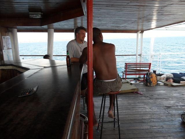 At the #bar in #firstclass on the #Ilala .. #TopDeck