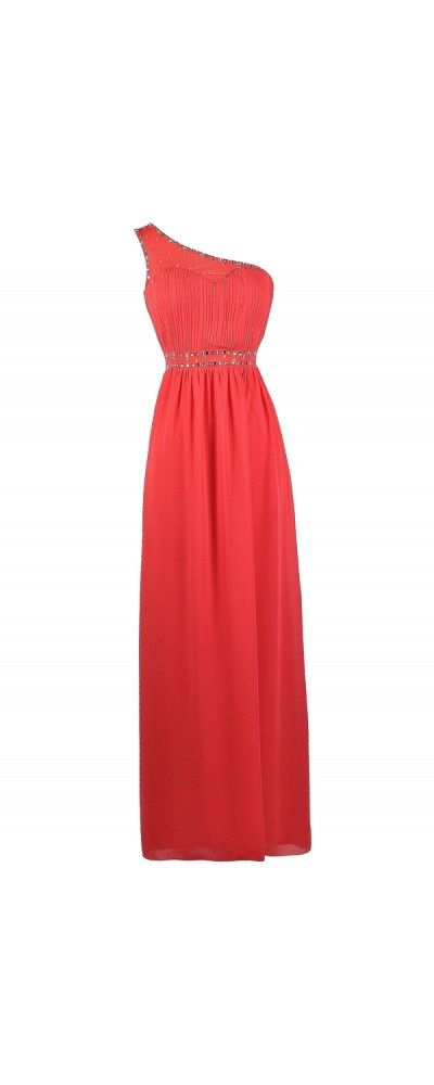 Lily Boutique Sparkle In Style One Shoulder Embellished Maxi Dress in Coral, $46 Coral One Shoulder Maxi Dress, Coral Prom Dress, Coral Formal Dress, Cute Coral Dress, Coral Full Length Prom Dress, Coral One Shoulder Dress, Coral Rhinestone Dress, Coral Embellished Dress www.lilyboutique.com