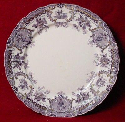 Wedgwood China Raleigh Purple Pattern Dinner Plate