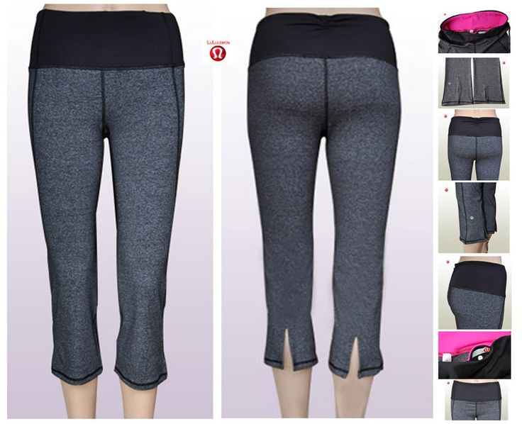 Wholesale Lululemon Yoga Gather&Crow Crop Pants Grey Online for Canada