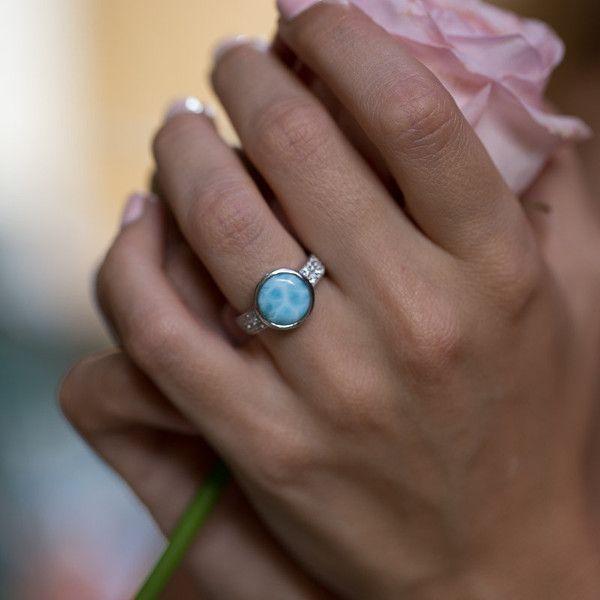 LAURA BONETTI Andrea Collection - Larimar Ring