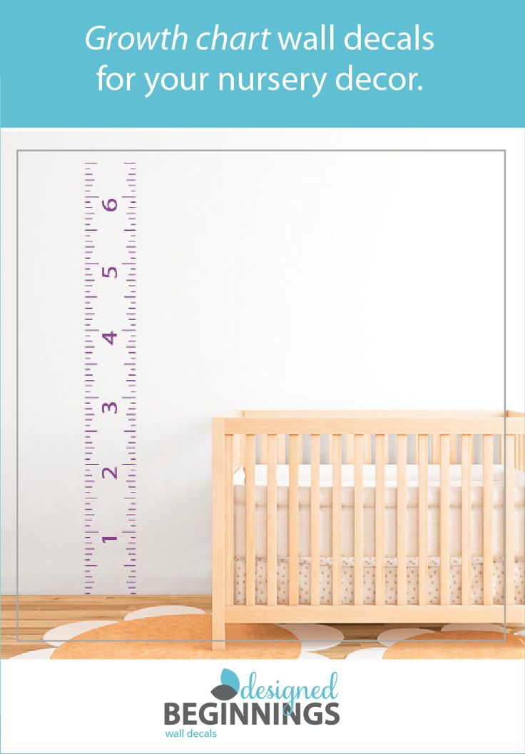 Use this ruler growth chart to measures your child's growth. This kids height chart decal looks like paint when applied to your wall. The best part is that it won't damage your walls once removed!