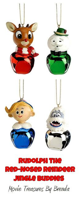 Rudolph the Red Nose Reindeer Jingle Buddies...cute affordable little Christmas ornaments make great stocking stuffer ideas for those who grew up with the television program!