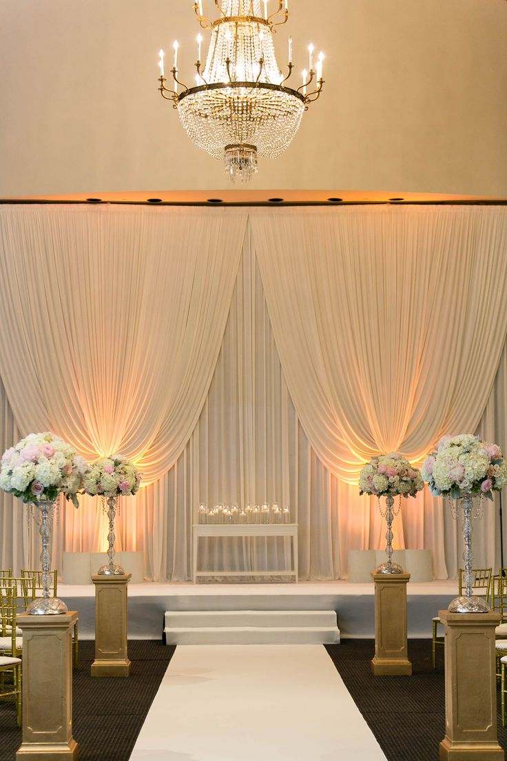 Disneyland photos disneyland paris bride groom table grooms table - Background Draping And Small Table At Altar For Floral Arrangement