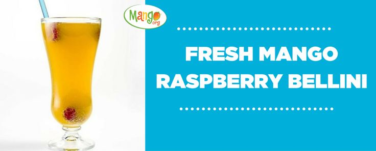 Fresh Mango Raspberry Bellini