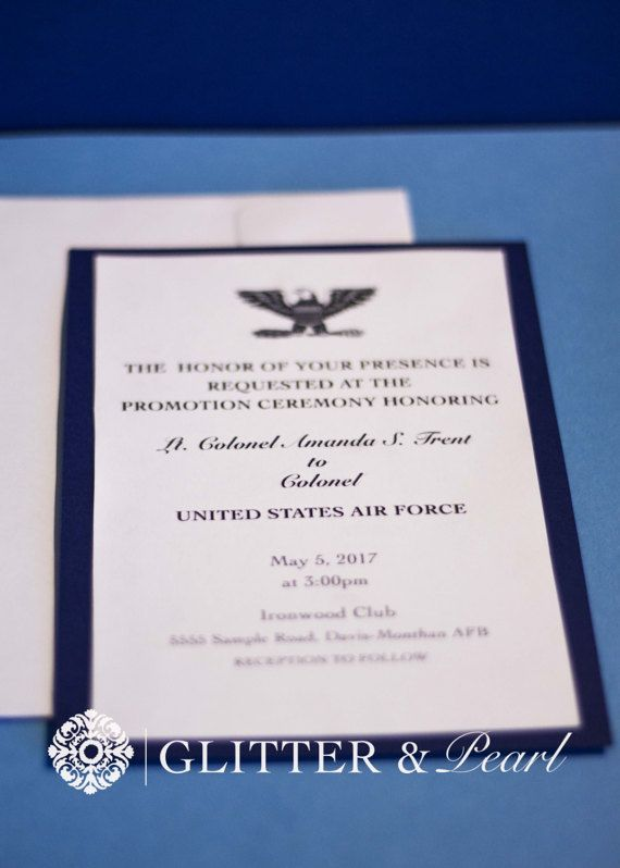 Military Promotion Invitations (Custom military invitation ...