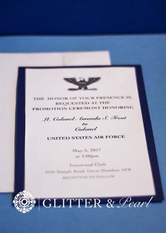 military retirement invitations