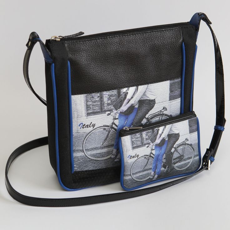 self designed bag, bicycle no.1 blue
