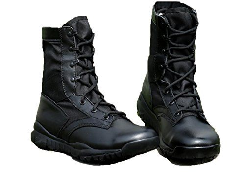 WZG Mens Summer Outdoor Military Boots US Army Desert Combat Boots Specialty Soldiers Field Boots Tactical Boots Mens High Boots  black  41 -- Click image for more details.