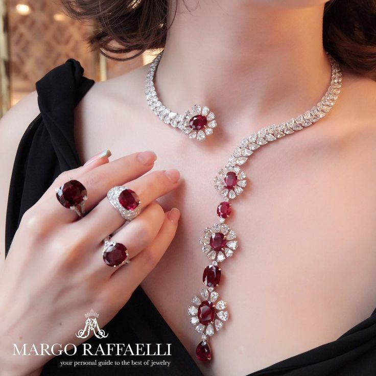 No better way to celebrate the first day of October than wearing @moussaieffjewellers ruby jewels ❤️ Credit: www.margoraffaell... - http://amzn.to/2goDS3g