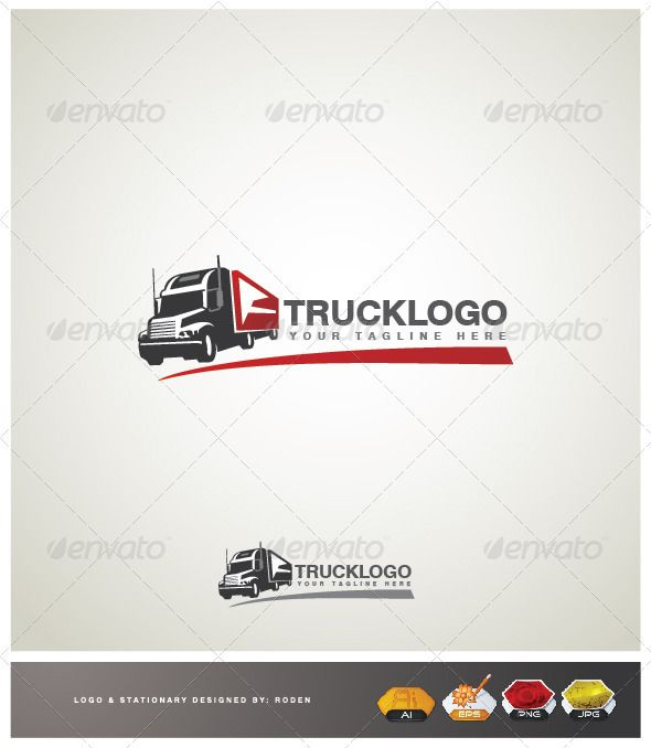 Truck Transport Logo  #eps #logo #movement • Available here → http://graphicriver.net/item/truck-transport-logo/3671758?s_rank=53&ref=pxcr