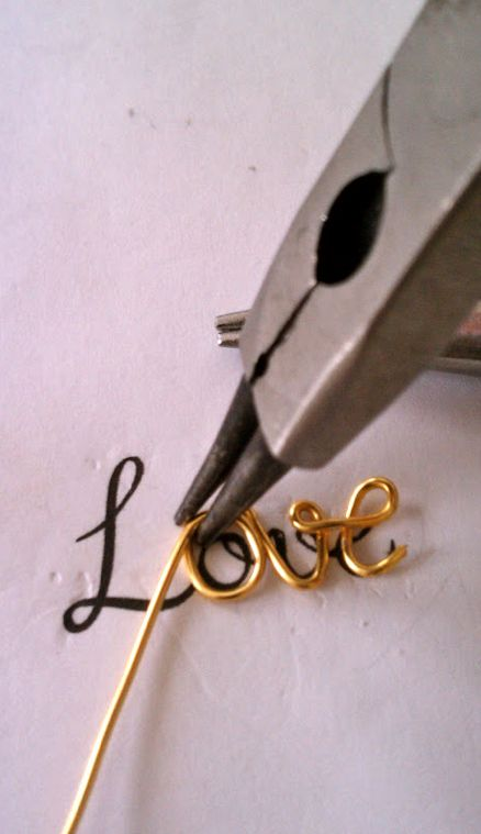 Wire Words - DIY Love Script Necklace Tutorial: use the technique to make handmade jewellery, card embellishments, home decor & gifts!