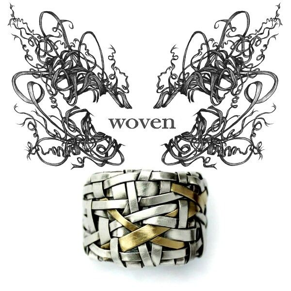 woven series of contemporary jewelry, handcrafted to order by gurgel-segrillo