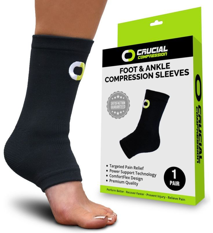 Ankle Brace Support Compression Sleeve (1 Pair)  BEST Ankle Compression Socks f